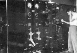 1957 Camberwell Exchange - me at main power board
